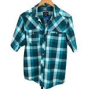 Kavu Short Sleeve Plaid Button Down Shirt